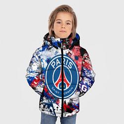 Куртка зимняя для мальчика PSG FC цвета 3D-черный — фото 2