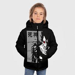 Куртка зимняя для мальчика Бог смерти цвета 3D-черный — фото 2