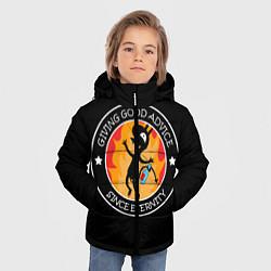 Куртка зимняя для мальчика ЛУЧШИЙ СОВЕТЧИК В МИРЕ цвета 3D-черный — фото 2