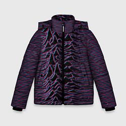 Куртка зимняя для мальчика Joy Division Glitch цвета 3D-черный — фото 1
