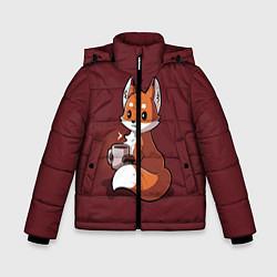 Куртка зимняя для мальчика Кофе любят не только люди цвета 3D-черный — фото 1