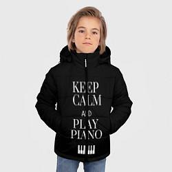 Куртка зимняя для мальчика Keep calm and play piano - фото 2