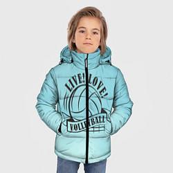 Куртка зимняя для мальчика LIVE! LOVE! VOLLEYBALL! цвета 3D-черный — фото 2