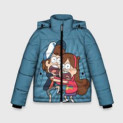 Куртка зимняя для мальчика Диппер и Мэйбл цвета 3D-черный — фото 1