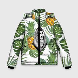 Куртка зимняя для мальчика Обезьяна нежить цвета 3D-черный — фото 1