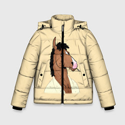 Куртка зимняя для мальчика Конь БоДжек цвета 3D-черный — фото 1