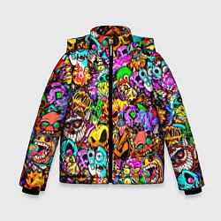 Куртка зимняя для мальчика STANDOFF 2 STICKERS цвета 3D-черный — фото 1