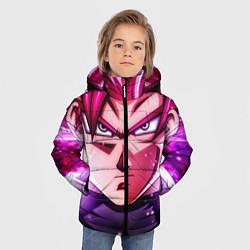 Куртка зимняя для мальчика Super Saiyan Rose цвета 3D-черный — фото 2