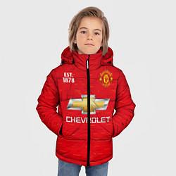 Куртка зимняя для мальчика MANCHESTER UNITED 2021 - HOME цвета 3D-черный — фото 2