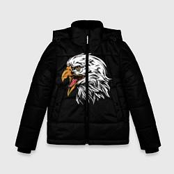 Детская зимняя куртка для мальчика с принтом Орёл, цвет: 3D-черный, артикул: 10276237906063 — фото 1