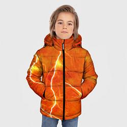 Куртка зимняя для мальчика Молния цвета 3D-черный — фото 2