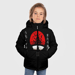 Куртка зимняя для мальчика Итачи цвета 3D-черный — фото 2