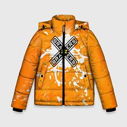 Детская зимняя куртка для мальчика с принтом Brazzers, цвет: 3D-черный, артикул: 10278877106063 — фото 1