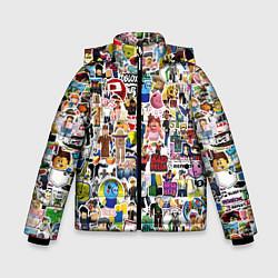 Куртка зимняя для мальчика Roblox Роблокс цвета 3D-черный — фото 1