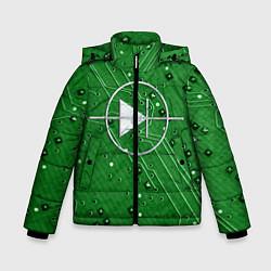 Детская зимняя куртка для мальчика с принтом Печатная плата и диод, цвет: 3D-черный, артикул: 10279647306063 — фото 1