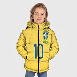 Куртка зимняя для мальчика СБОРНАЯ БРАЗИЛИИ ПЕЛЕ цвета 3D-черный — фото 2