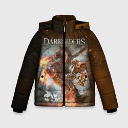 Куртка зимняя для мальчика Darksiders Z цвета 3D-черный — фото 1