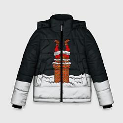 Куртка зимняя для мальчика С Новым Годом! цвета 3D-черный — фото 1