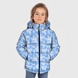 Куртка зимняя для мальчика Новый Год цвета 3D-черный — фото 2