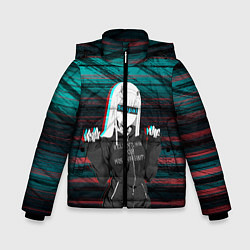 Куртка зимняя для мальчика Zero Two Senpai цвета 3D-черный — фото 1