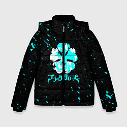 Куртка зимняя для мальчика Черный клевер цвета 3D-черный — фото 1