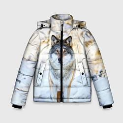 Куртка зимняя для мальчика Я зимой цвета 3D-черный — фото 1