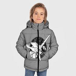 Куртка зимняя для мальчика Евангилион цвета 3D-черный — фото 2