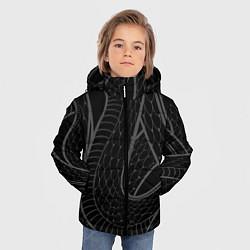Куртка зимняя для мальчика Змеи цвета 3D-черный — фото 2