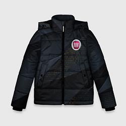 Детская зимняя куртка для мальчика с принтом FIAT ФИАТ S, цвет: 3D-черный, артикул: 10284909706063 — фото 1