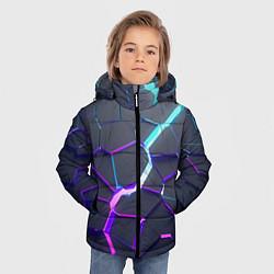 Куртка зимняя для мальчика НЕОНОВЫЙ РАЗЛОМ 3Д РАЗЛОМ цвета 3D-черный — фото 2