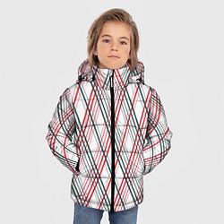 Куртка зимняя для мальчика Игральные карты цвета 3D-черный — фото 2