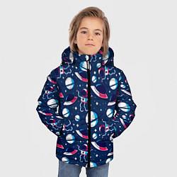Куртка зимняя для мальчика Космонавты, планеты и нло цвета 3D-черный — фото 2