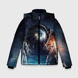 Куртка зимняя для мальчика Космонавт цвета 3D-черный — фото 1