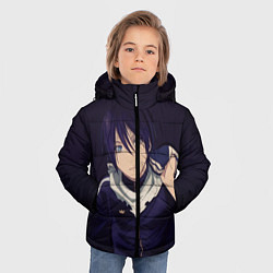 Куртка зимняя для мальчика Ято Бездомный бог цвета 3D-черный — фото 2