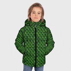 Куртка зимняя для мальчика Reptile Scales цвета 3D-черный — фото 2