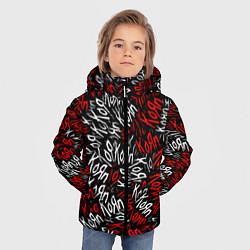 Куртка зимняя для мальчика KoЯn KoЯn KoЯn цвета 3D-черный — фото 2