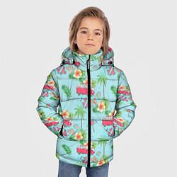 Куртка зимняя для мальчика Путешествие хиппи цвета 3D-черный — фото 2