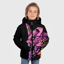 Куртка зимняя для мальчика Evangelion Eva 01 цвета 3D-черный — фото 2