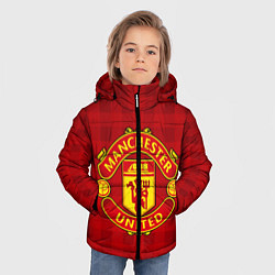 Детская зимняя куртка для мальчика с принтом Manchester United, цвет: 3D-черный, артикул: 10063820006063 — фото 2