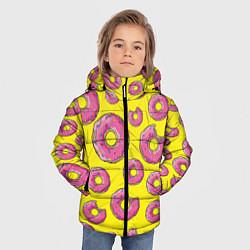 Куртка зимняя для мальчика Пончики Гомера цвета 3D-черный — фото 2