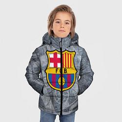 Детская зимняя куртка для мальчика с принтом Barcelona, цвет: 3D-черный, артикул: 10063906106063 — фото 2