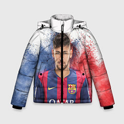 Куртка зимняя для мальчика Neymar FCB цвета 3D-черный — фото 1