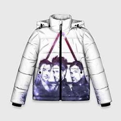 Детская зимняя куртка для мальчика с принтом 30 seconds to mars, цвет: 3D-черный, артикул: 10063909106063 — фото 1