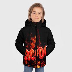 Куртка зимняя для мальчика AC/DC Flame цвета 3D-черный — фото 2