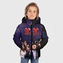 Куртка зимняя для мальчика AC/DC цвета 3D-черный — фото 2