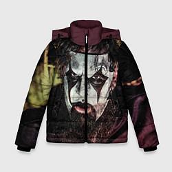 Детская зимняя куртка для мальчика с принтом Slipknot Face, цвет: 3D-черный, артикул: 10064258606063 — фото 1