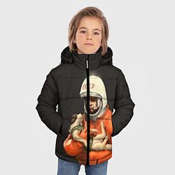 Куртка зимняя для мальчика Гагарин с лайкой цвета 3D-черный — фото 2