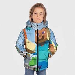 Детская зимняя куртка для мальчика с принтом Minecraft World, цвет: 3D-черный, артикул: 10064260706063 — фото 2
