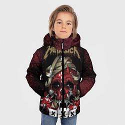 Детская зимняя куртка для мальчика с принтом Metallica: XXX, цвет: 3D-черный, артикул: 10064308106063 — фото 2