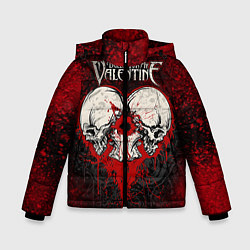 Куртка зимняя для мальчика BFMV: Duo Skulls цвета 3D-черный — фото 1